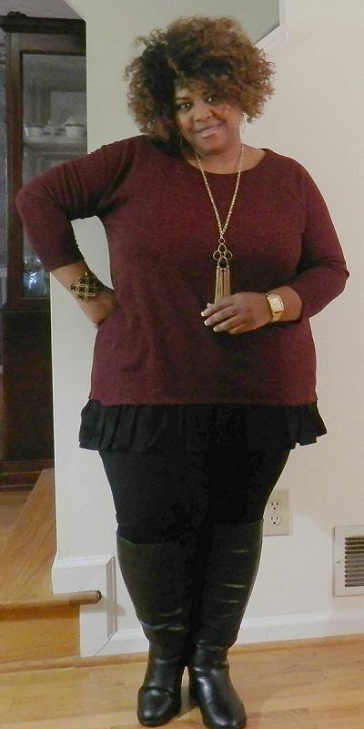 plus-szie-chiffon-sweater